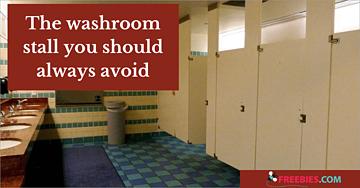 washroom stall to avoid