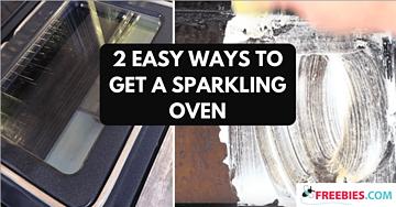 sparkling oven door