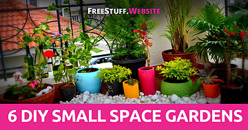 6 DIY Small Space Gardens