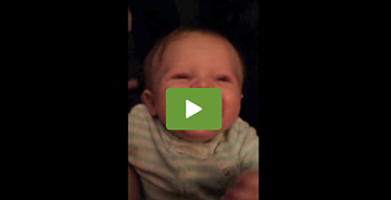 Baby Girl is All Giggles Over Dad's Voice