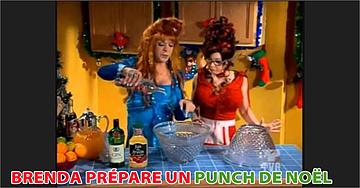Brenda prépare un punch de Noël (Le coeur a ses raisons)
