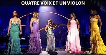 Quatre voix et un violon qui font frissonner!