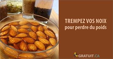 astuce Trempez vos noix pour perdre du poids