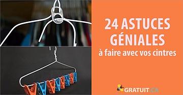 24 astuces géniales à faire avec vos cintres