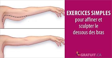 Exercices simples pour affiner et sculpter le dessous des bras