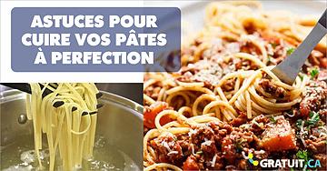Astuces pour cuire vos pâtes à perfection