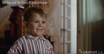 Elton John #EltonJohnLewis John Lewis & Partners, Christmas TV advert, The Boy and The Piano,