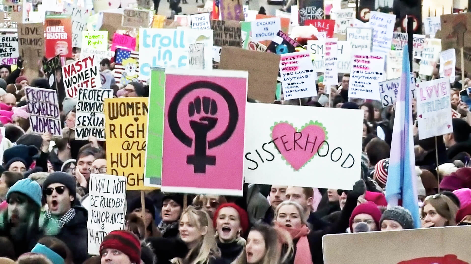 feminist protest march signs