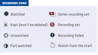 recording icons