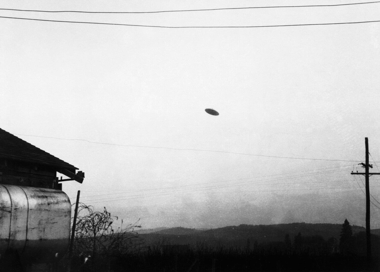 ancient aliens black and white photo of ufo