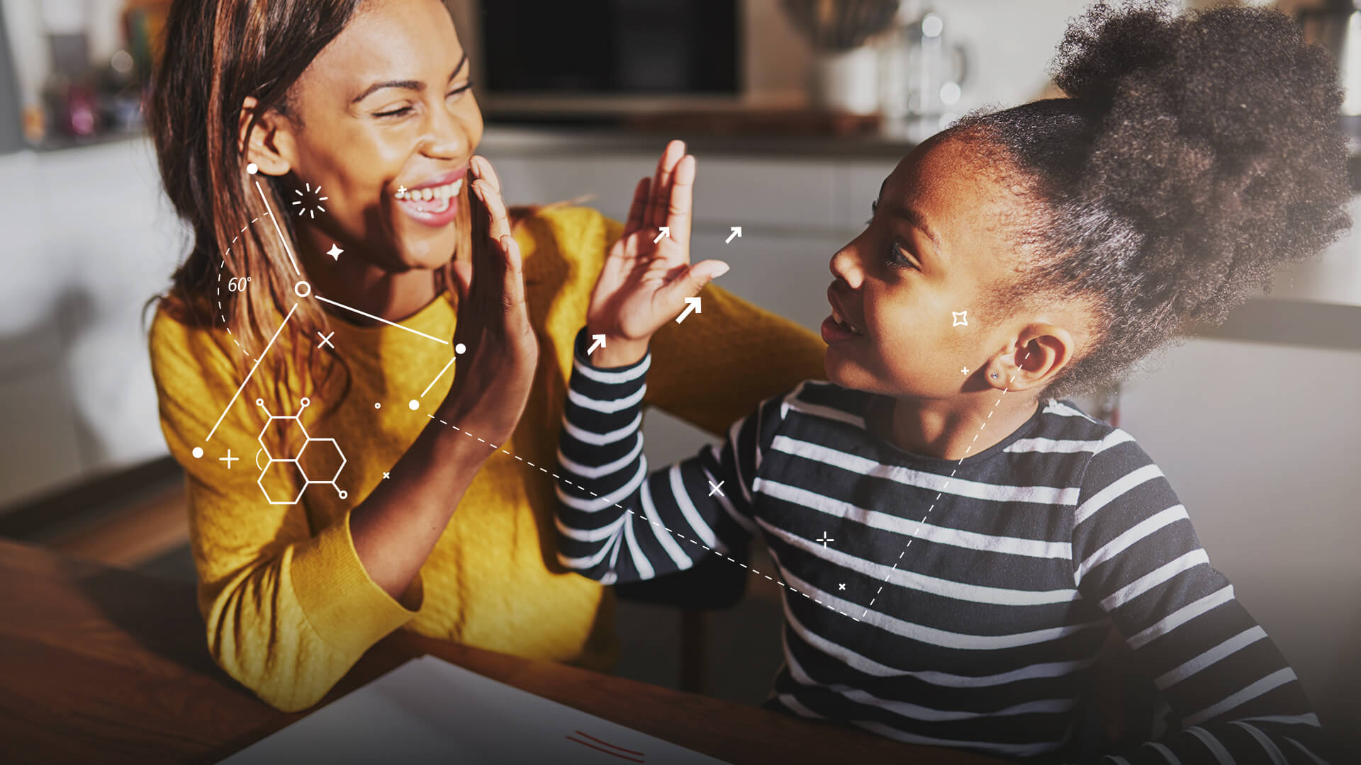 mother and daughter high fiving bbc bitesize