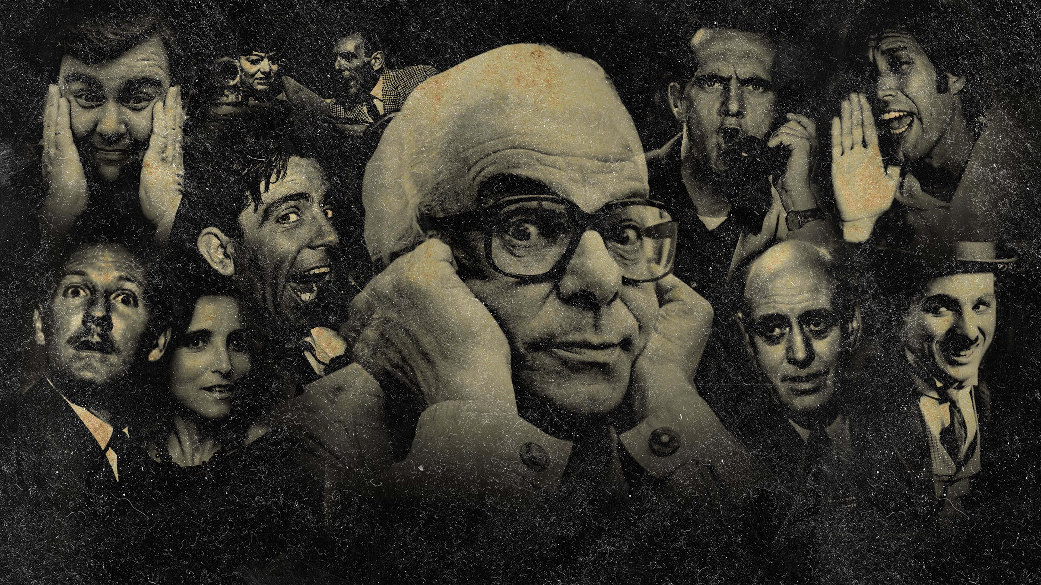 photo montage of famous comedians