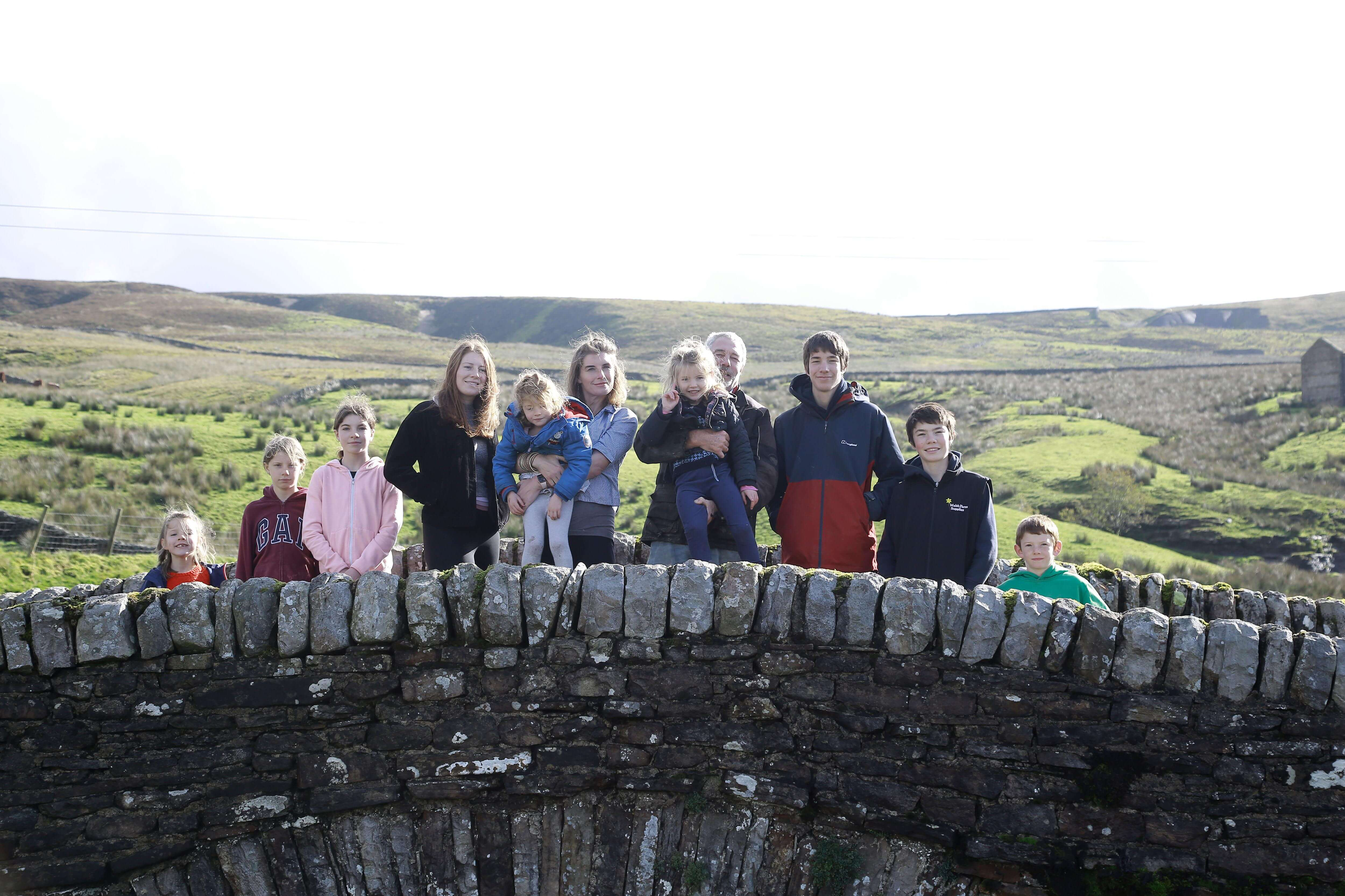 our yorkshire farm owen family on a bridge in yorkshire