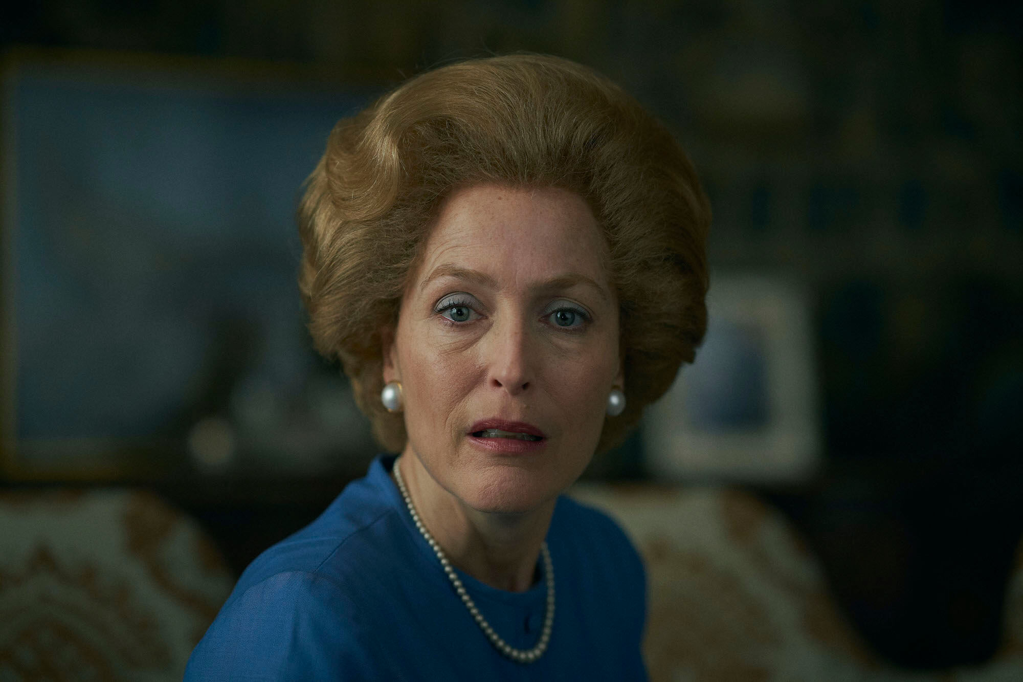 Gillian Anderson as Margaret Thatcher season 4 The Crown