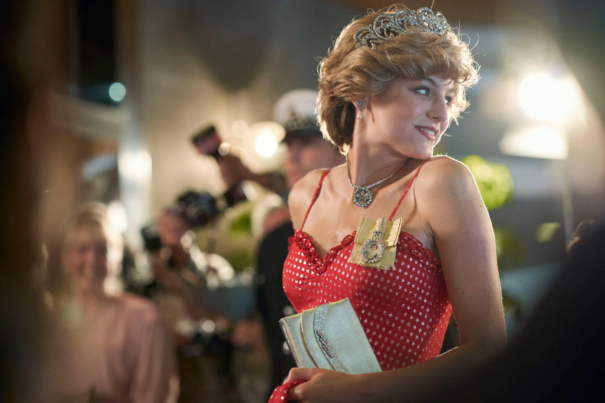 Emma Corrin as Diana in season 4 of The Crown