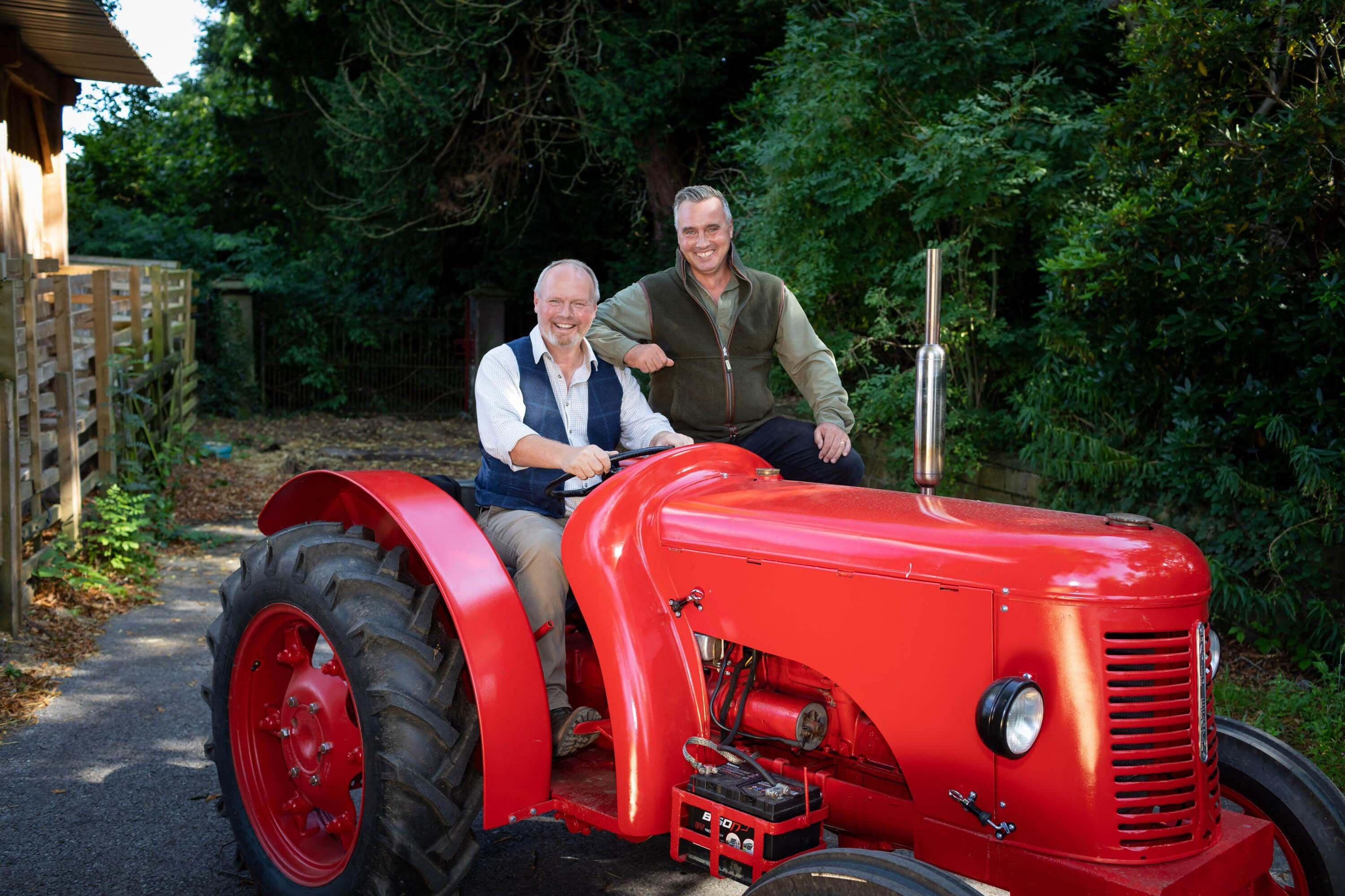 jules hudson on a tractor