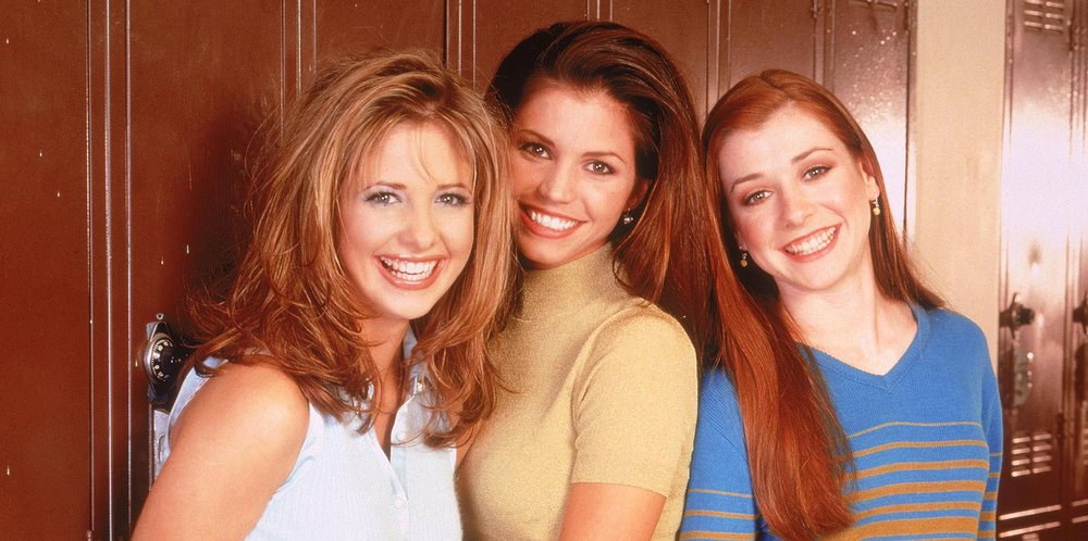 buffy cordelia and willow laughing