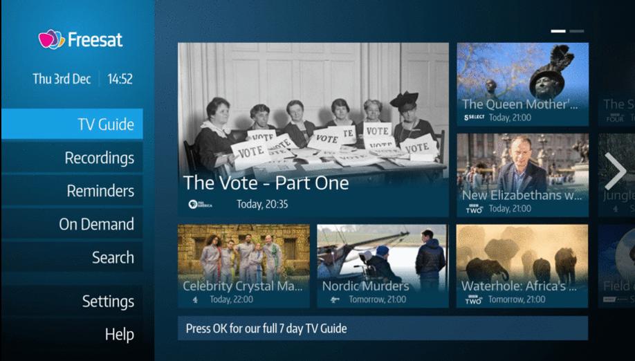 Faster TV Guide Freesat