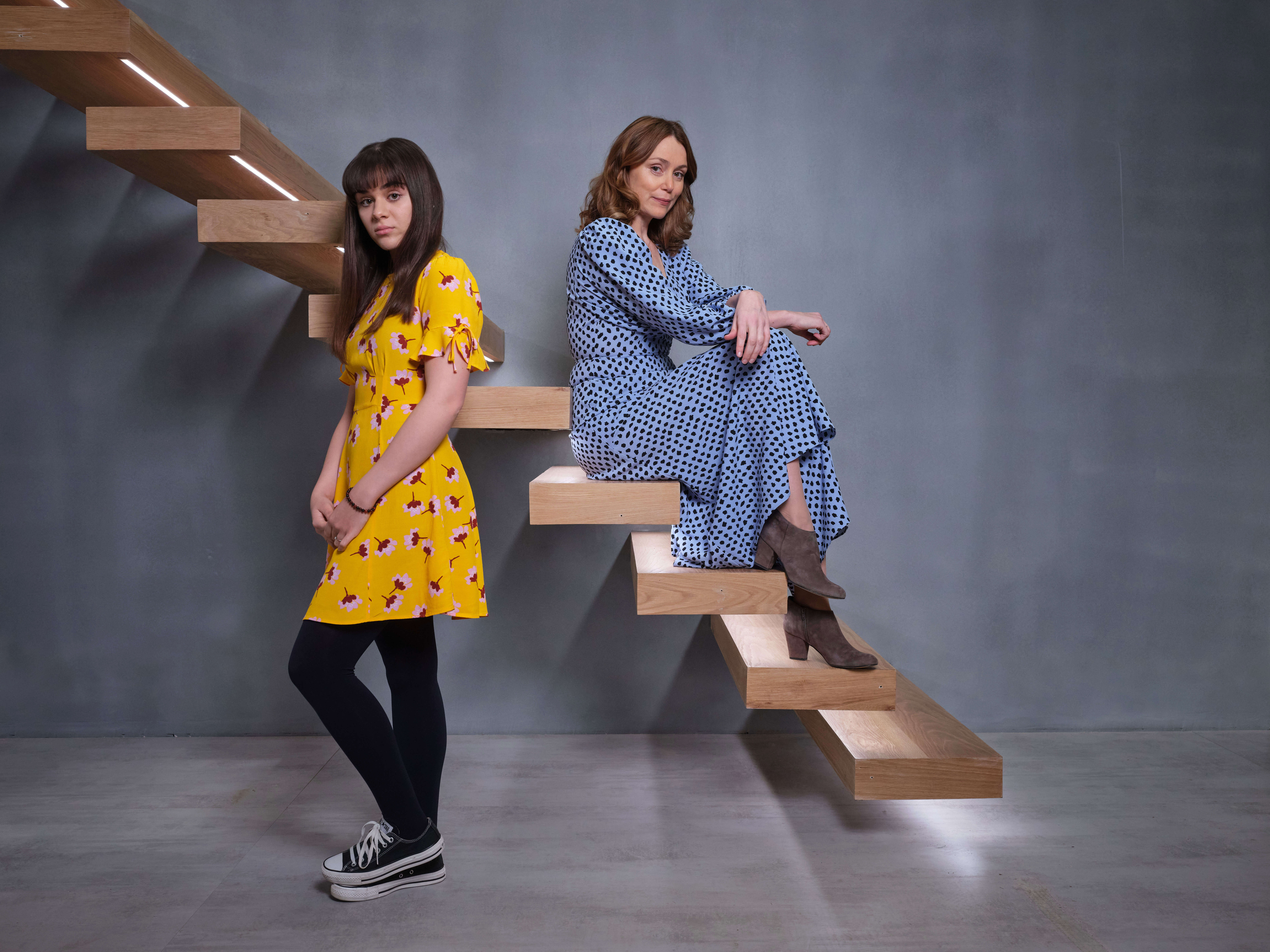 keeley hawes and isabella pappas in finding alice