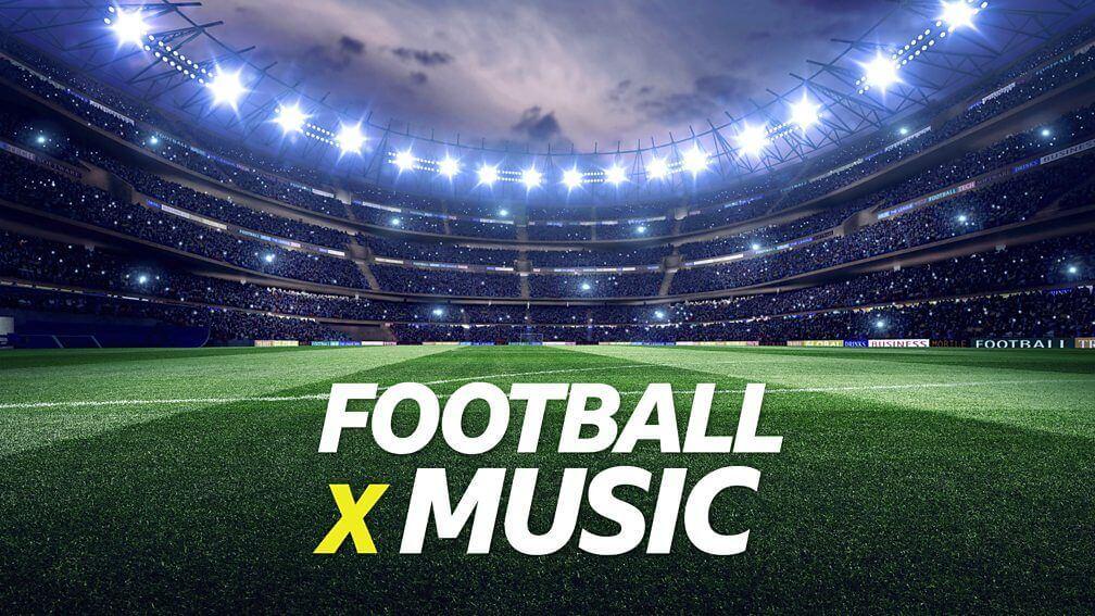 football x music