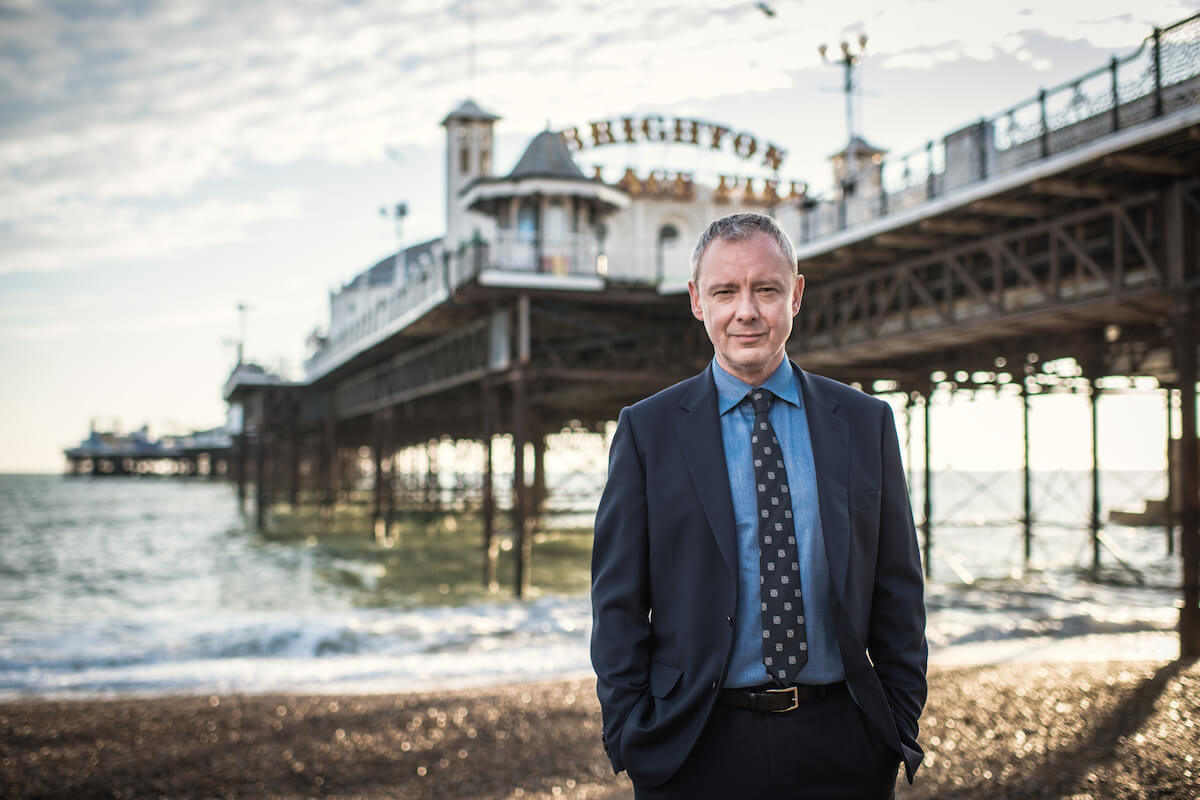 john simm in grace by brighton pier