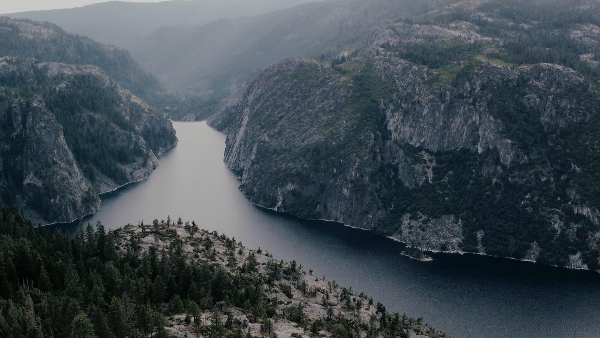 remote river in the wilderness