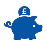Piggy bank navy