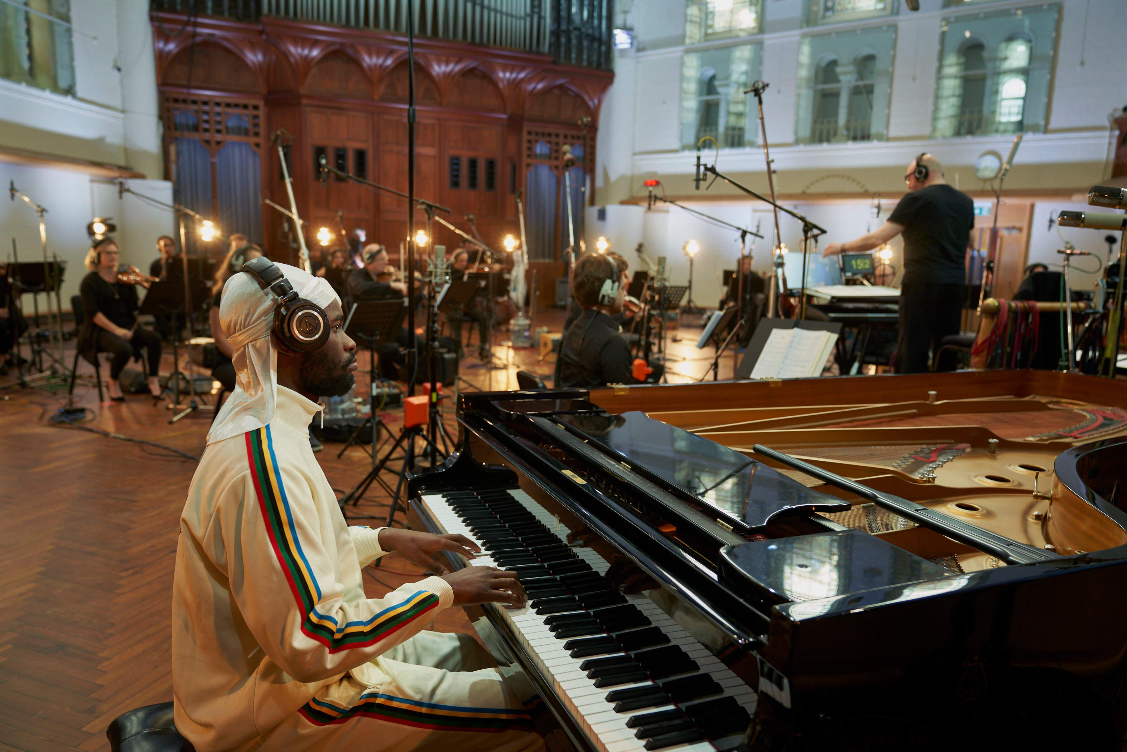 dave the rapper on grand piano