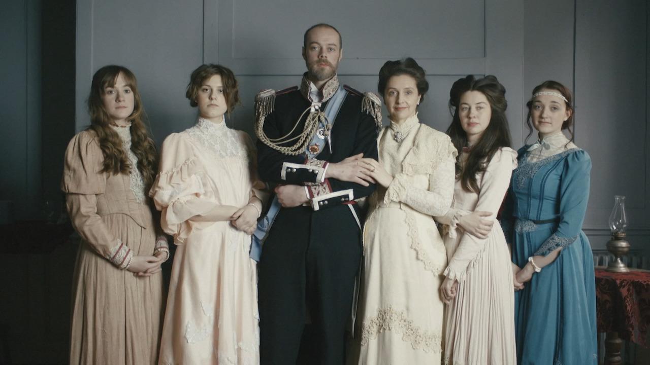reenactment of the romanov family photo