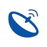 Connects to your satellite dish icon