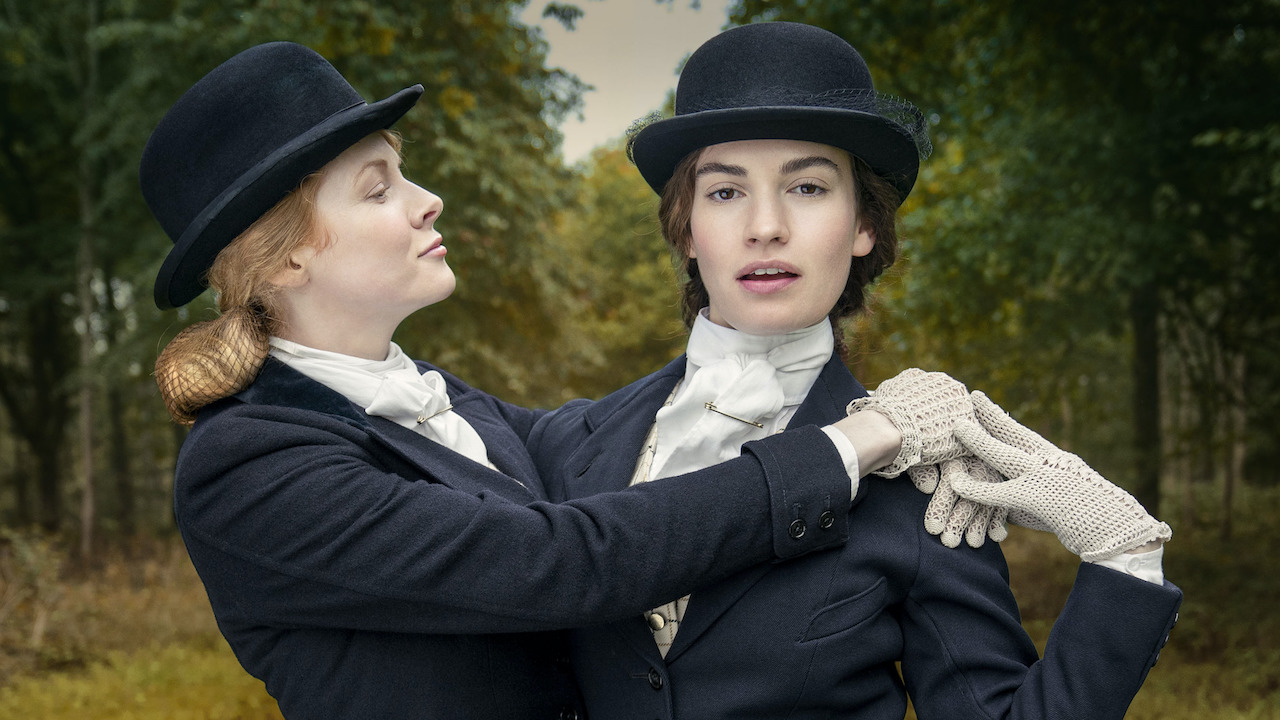 lily james in period drama the pursuit of love