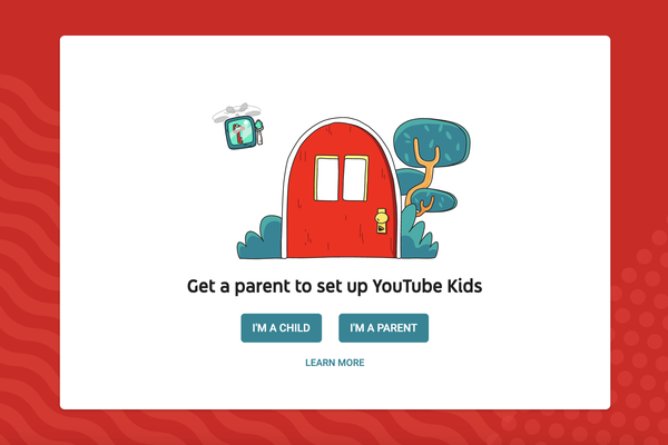 Sign up step one of YouTube Kids Freesat
