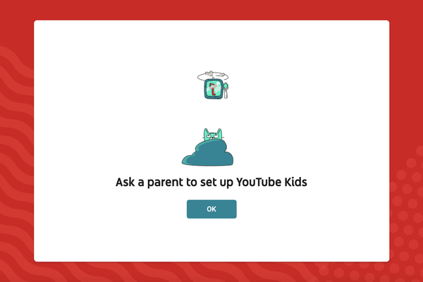 Sign up step two of YouTube Kids Freesat