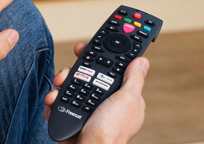 Freesat remote control with on demand players