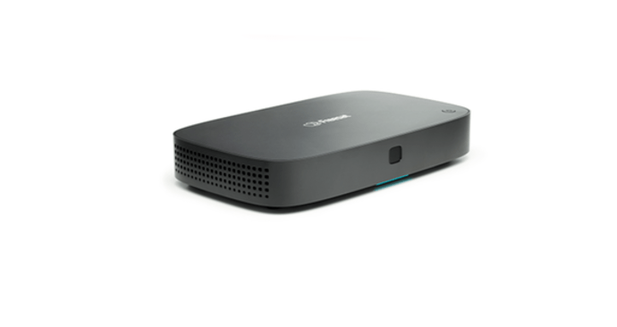 Side view of recordable 4k tv box