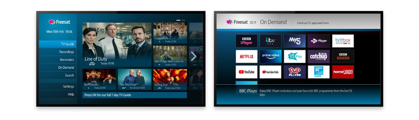 Freesat hero on-demand channels for mobile