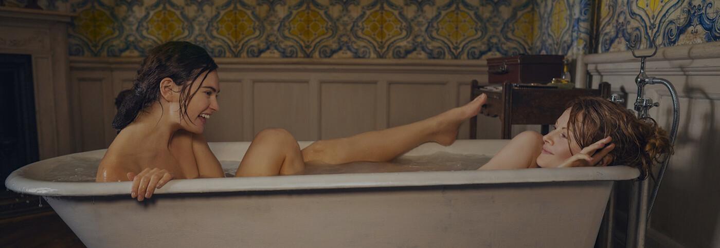 lily james in bathtub
