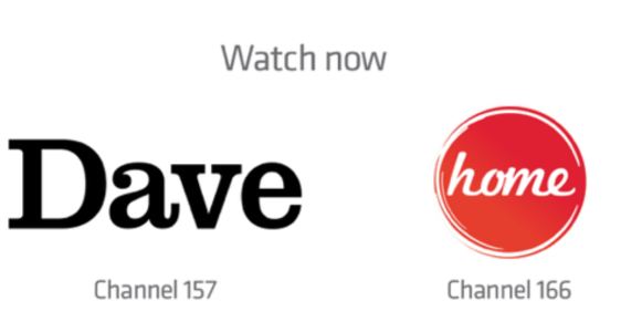 Dave and Home channel logos