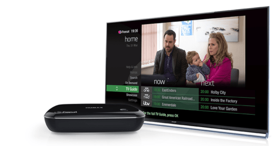 Humax HB-1100S smart tv box and interface