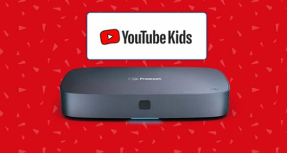 YouTube Kids Freesat launch banner