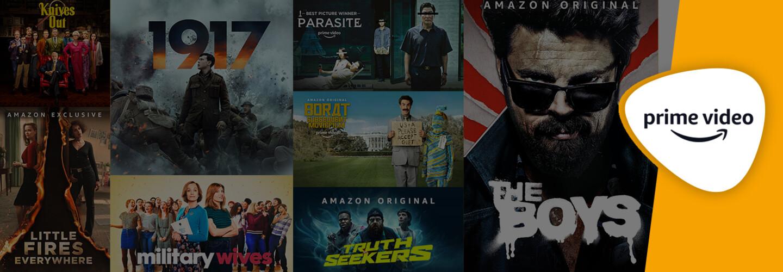 Amazon Prime Video now on Freesat banner
