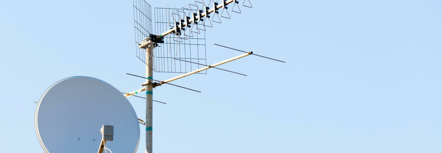 satellite and aerial tv banner
