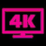 4k tv icon