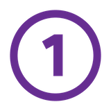 number 1 purple