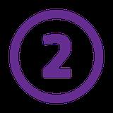 number 2 purple