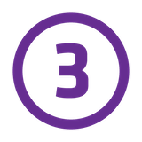 number 3 purple
