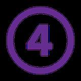number 4 purple