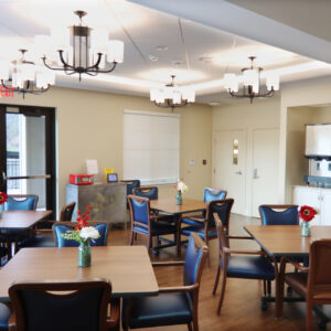 Common area at retirement community