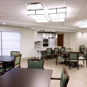 skilled nursing facility dining area