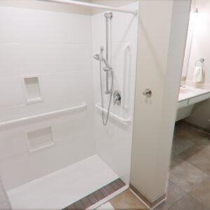 interior of skilled nursing bathroom